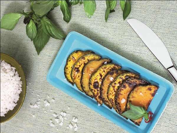 bí ngô nướng đơn giản tại nhà